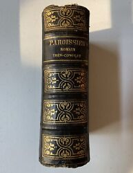 Antique 1862 French Bible New Parishioner Book In Latin And French Old Vintage