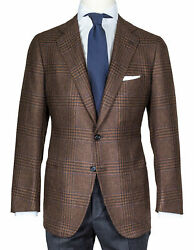 Cesare Attolini Jacket Braun Gelencheck Patch Pockets From Cashmere