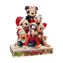 Jim Shore 6007063 Christmas Mickey And Friends 2020 New Minnie Goofy Donald Duck