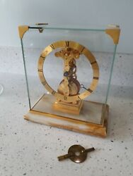 Hour Lavigne In Line Skeleton Baguette Mantle Clock Mystery Carriage Clock