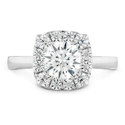 Classic Look 1.15 Ct Real Diamond Engagement Ring Solid 950 Platinum Size 5 6 7