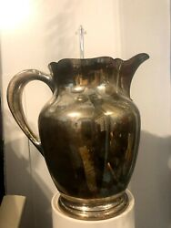 Skylark By S. Kirk And Son Sterling Silver Water Pitcher 8 1/4 Tall