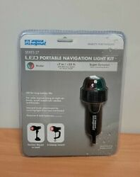 Battery Operated Portable Led Red And Green Bow Navigation Light For Boats