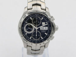 Tag Heuer Link Calibre 16 Chronograph Day Date Watch Cjf211a Ex++