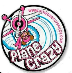 New 4-inch Iron-on Andldquoplane Crazyandrdquo Patch For Bomber Jacket Flight Bag Or Cap