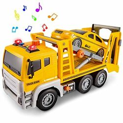 Hersity Rescue Truck With Taxi Car Toy Lights And Sounds 2 In 1 Wrecker Truck