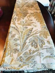 Pottery Barn Set 2 Palampore Drapes Ivory Beige 50x84l Curtains Floral Pair Rare