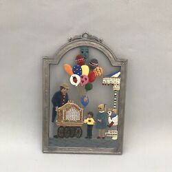 Vtg Wilhelm Schweizer Christmas Wall Hanging Pewter A Day At The Fair