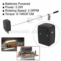 Stainless Steel Grill Rotisserie Spit Chicken Roaster Rod Charcoal Bbq Motor Kit