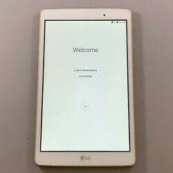 New Other Lg G Pad X 8.0 Lg-v521 T-mobile 16gb Gold Android Tablet Wifi 4g Lte