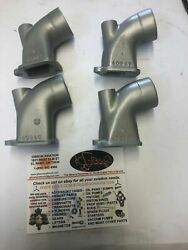 Continental C-85 C-90 O-200 Intake Elbow Gold Set Of 4 Pn 40247 And 40246