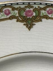 Vintage Ktk Sv Knowles Taylor And Knowles China 9.5andrdquo Dinner Plates Pink Roses