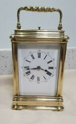 Antique Gorge Case Repeat 4 Glass Carriage Clock Henry Jacot