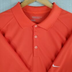 Nike Golf Tour Performance Size 2xl Mens Red Breathable Polo Shirt Casual Xxl