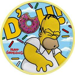 Tuvalu 2019 - Homer Simpson Clouds - Simpsons - D´oh 250 Pcs Silver Coin 1 Oz