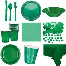 Green Partyware Christmas Kids Table Decorations Cutlery Buffet Birthday Amscan