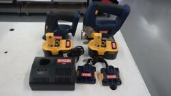Ryobi Tools Combo Set P520/p400 With 2 Batteries And Charger Tdy009627