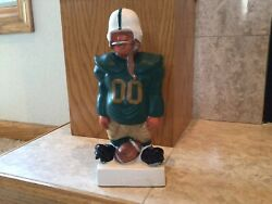 Vintage Fred A Kail Football Bank,green And Gold Color Could Be Green Bay Packers