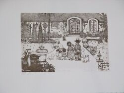 Summer Special Limited Ed Etching Print Open House By Charles Bragg