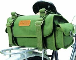 Ostrich Bicycle Saddle Bag S-2 Green No. 6 Cotton Canvas