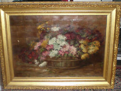 Antique 19th C Continental School Impressionist Frame Initial K A M Dated 1889