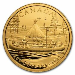 2021 Canada 1/2 Oz Gold 200 Early Canadian History The Fur Trade - Sku232934