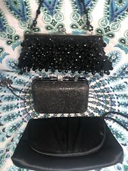 Lot Of Black Evening Clutches $10.00