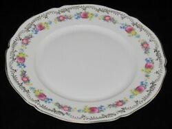 Hutschenreuther Us Zone, Multicolor Roses Floral Band Dinner Plate, 9 7/8