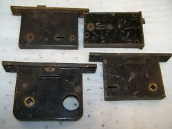Vintage/antique Brass Hardware Lot Of 4 Mortise Door Locks Yale And Other