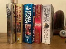 Game Of Thrones, Books 1-5, George R R Martin, 1st/1sts, Each Signed