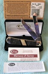 Case Xx Apache Gold W Mop Exotic Trapper Pocket Knife 2005 With Box 06400 Ltd Ed