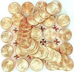 25 Roll 500 .999 Fine Copper Buffalo Indian Head Round Coin Investment Bullion