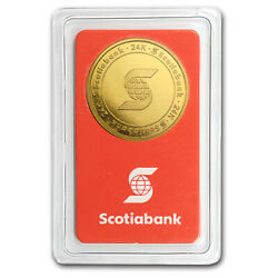1/2 Oz Gold Round - Scotiabank In Assay - Sku 50867