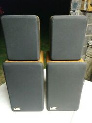 Miller And Kreisel Mandk Satellite Speakers 1a 430494 And 430495 Amazing Quality