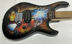 Stan Lee Signed Peavey Marvel Full Size Iron Man Electric Guitar Psa/dna Ac32738