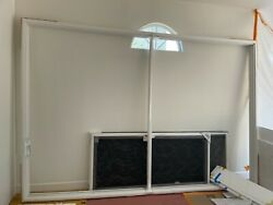 White Vinyl Patio Sliding Doors 142 Inches X 96 Inches Local Pickup Only