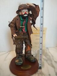 Large Looking Out To See 2 Real Rags Emmett Kelly Jr Flambro Clown Figurine