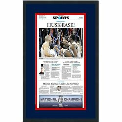 Framed Hartford Courant Uconn 2011 National Ncaa Champions Newspaper 17x27 Photo