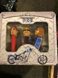 2006 Orange County Choppers Pez Set Of 3 In Tin Box Sealed In Box