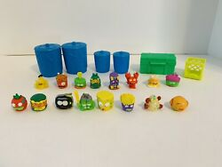 Grossery Gang Garbage Can Trash Pack Containers Crate Figures Lot