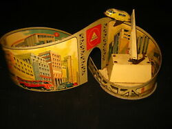 Antique Tin Toy Technofix Wind Up Circuit Nº 274 Working