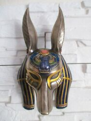 Mask Egypt Anubis God Of The Dead Poly Bronze Hanging Figurine