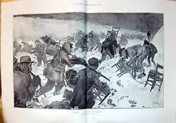 Old 1897 Snow Storm Outdoor Scene Winter Weather Drawing By Daniel Vi 19th