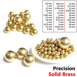 0.9mm-45mm Precision Solid Brass Ball Eectrical Instrument Bearings Rolling Bead