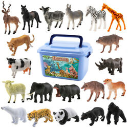 1 Set Of 58pcs Realistic Plastic Animals Toys Kids Forest Zoo Model Funny Toys