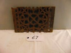Victorian Cast Iron Grill Grille Church Greenhouse Vent Air Floor Vent Ref 67