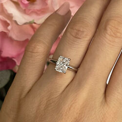 Solitaire 1.25 Ct Lab Grown Diamond Engagement Ring 14k White Gold Size 6 7 8 9
