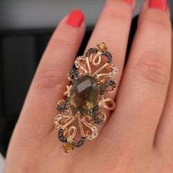 Le Vian 14k Rose Gold Multi Gemstone Ring Sold Out 3499 New