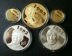 2007 South Africa Protea Gold And Silver Proof Set For Nobel Peace Prize Winners