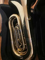 Levante Lv-bt5705 Pro Series Bb Tuba With 4 Rotary Valves - Clear Lacquer
